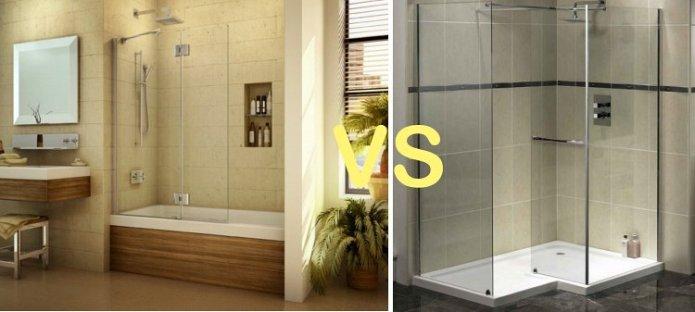match douche contre baignoire