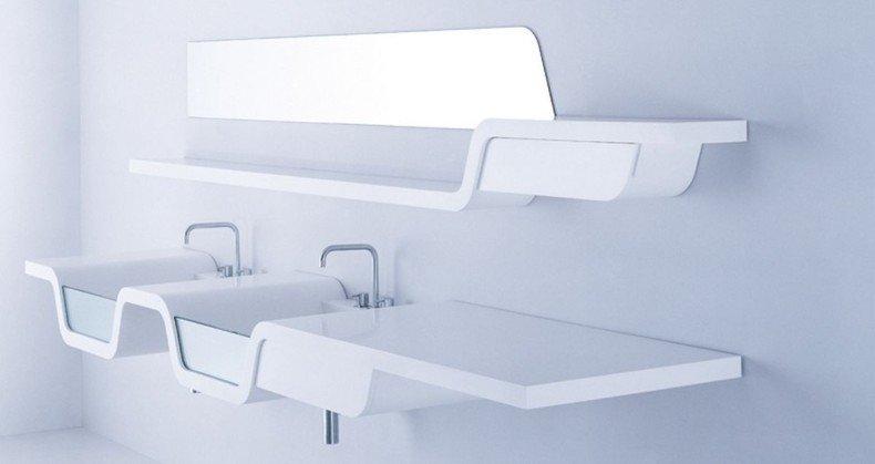 meuble lavabo design en bois design