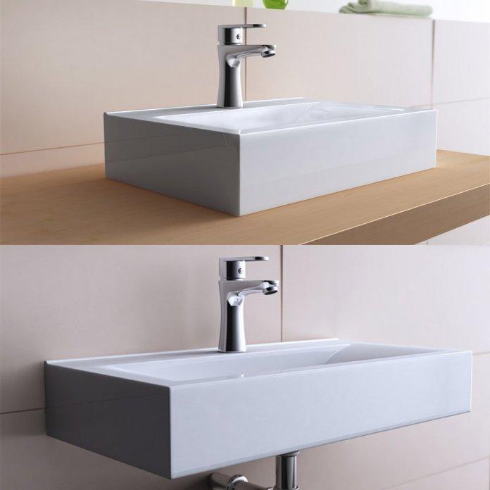 vasque à poser rectangulaire design Bruxelles