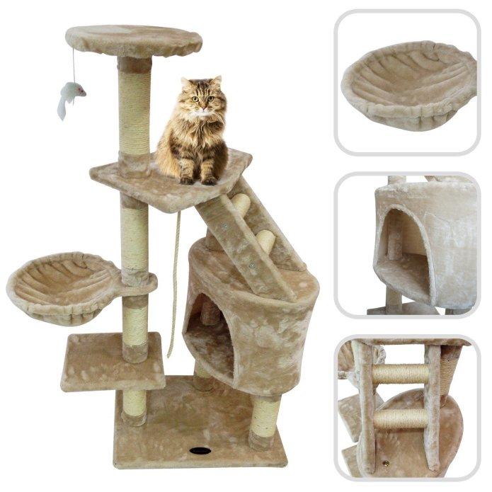 Arbre à chat avec griffoir et tour en sisal (Lolipet)