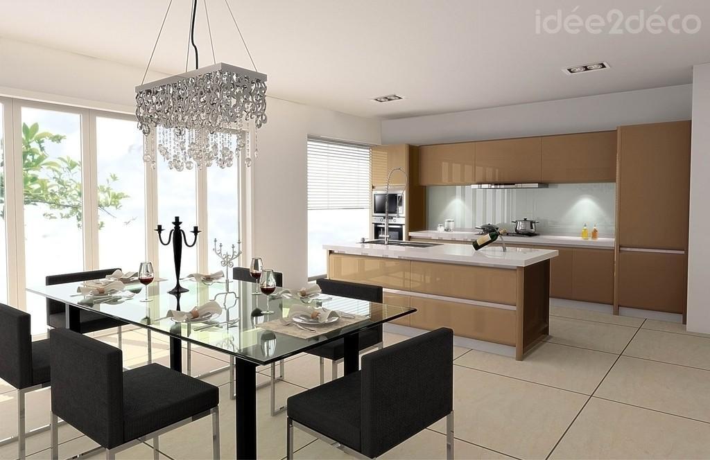 Déco de salle à manger et cuisine moderne à tendance néo-baroque