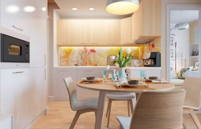 Idée de décoration sympa pour ceux qui aiment l'aménagement scandinave mais qui ne peuvent pas se passer des couleurs.