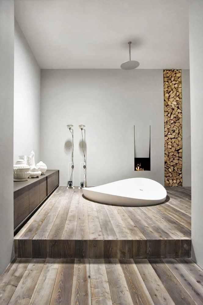 baignoir encastrée dans parquet