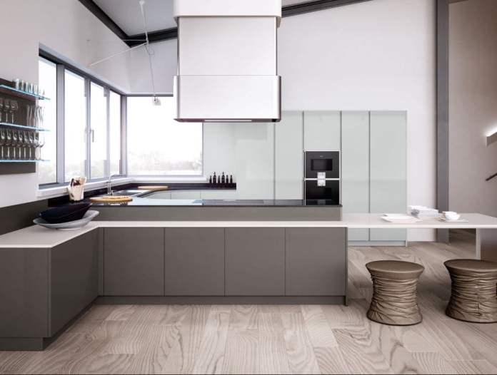 Ici le cuisiniste italien joue la carte du minimalisme. Et on aime!