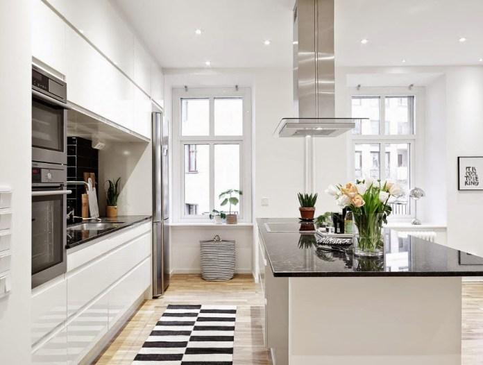 Une cuisine scandinave comme on l'aime : design, chic et pure!