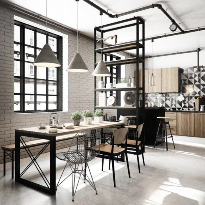 Symbiose des styles. Une touche scandinave dans un loft industriel.. Source : deavita.fr