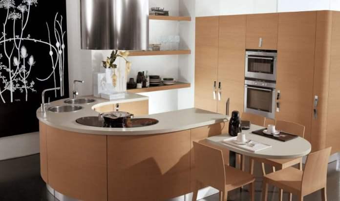 Le haut de gamme n'est pas forcément réservés aux grands espaces. La preuve, cette petite cuisine design trouvera sa place dans une petite pièce ou un studio.