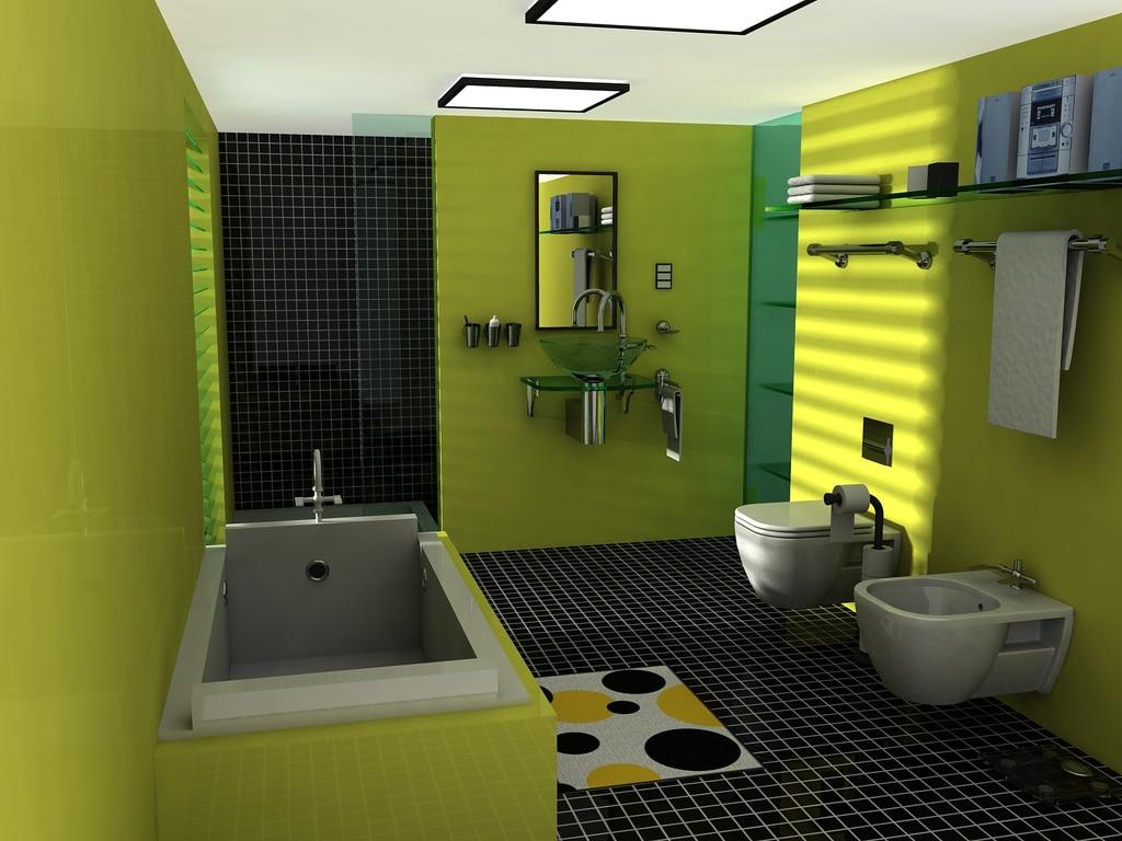 Modele Salle De Bain Avec Mosaique quelles couleurs vives pour réaliser une salle de bain moderne ?