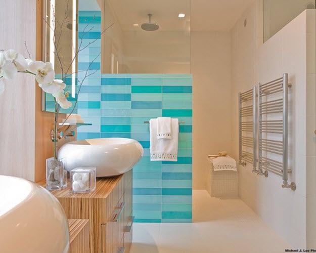Salle de bain couleur bleue: 20 modèles ( comme dans un ...