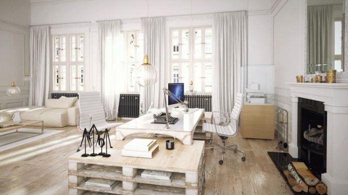bureau-en-palettes-de-bois-blanc