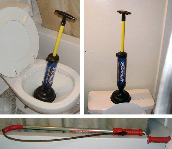 déboucheur à pompe pour déboucher les toilettes