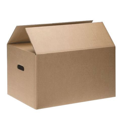 Une caisse de déménagement double cannelure
