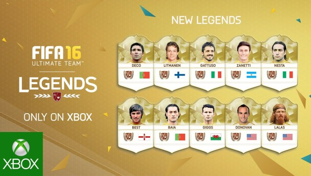 FIFA 16 - New FUT Legends