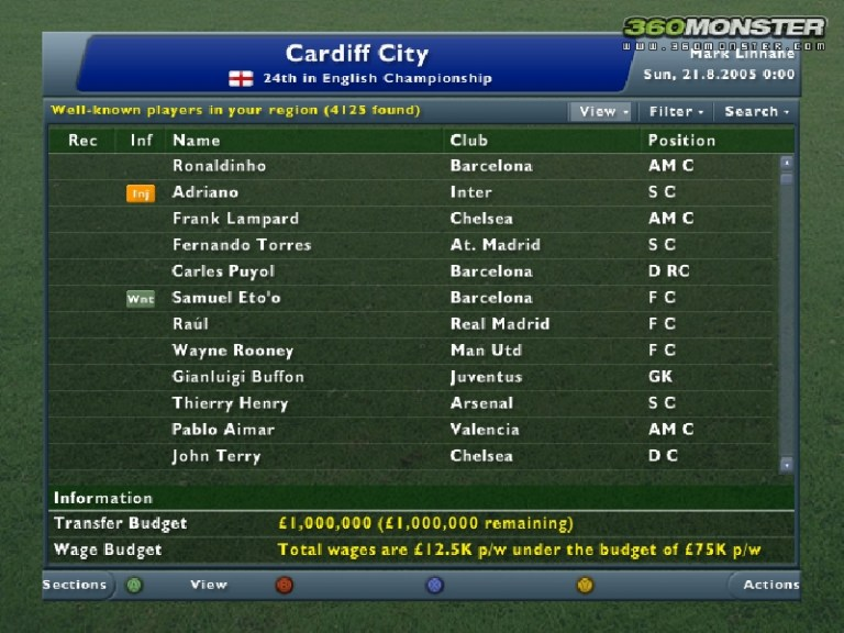 Football Manager 2006 Preview