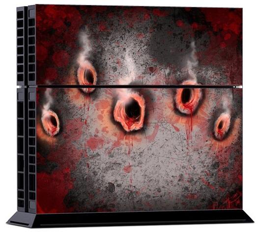 Sony PS4 Skin Bullet Holes