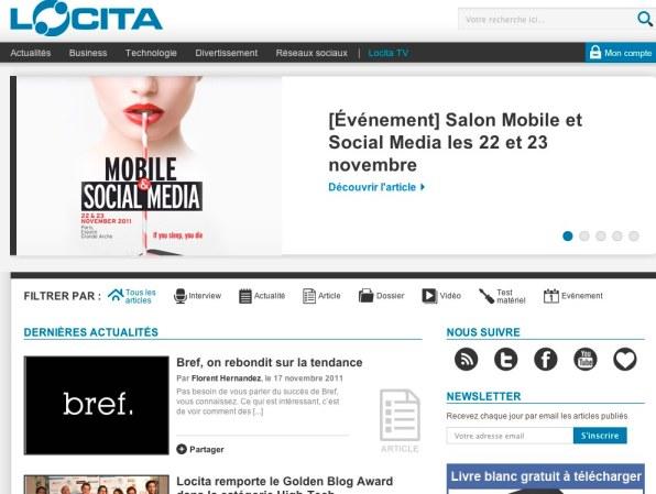 Réseaux sociaux, nouvelles technologies, mobile et web sur Locita.com
