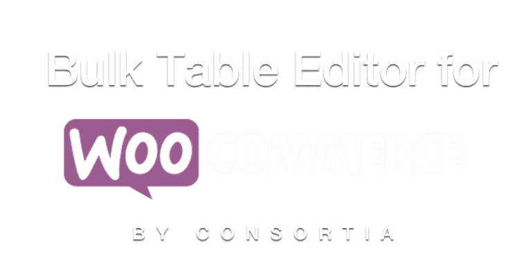 Bulk Table Editor for WooCommerce