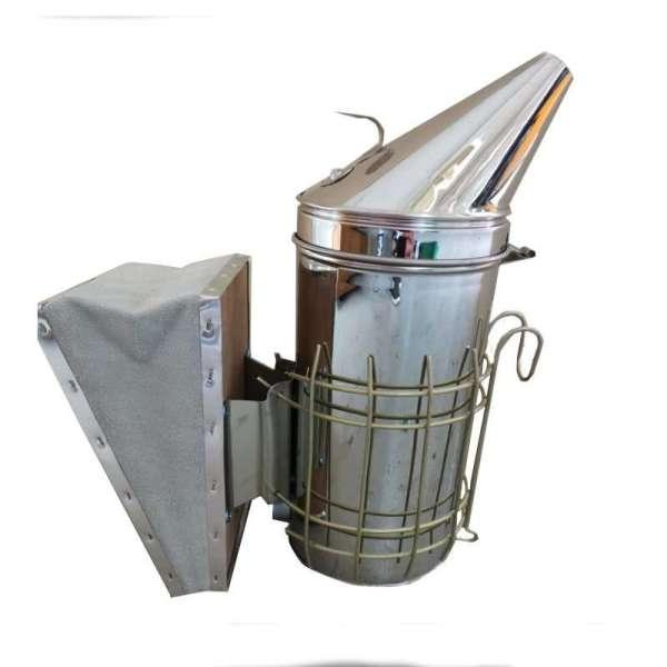 Affumicatore a imbuto inox con protezione griglia (10* 25cm)