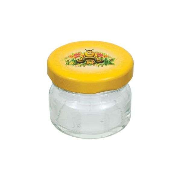 Vasetto 40g, tappo con disegno ape, confezione 30 pezzi