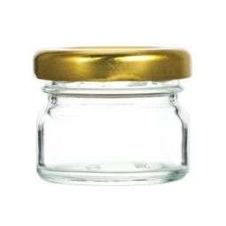 Vasetto 40g, tappo oro, confezione 30 pezzi