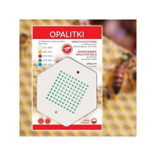 Sticker verde con numeri per marcare la regina da 1 a 100
