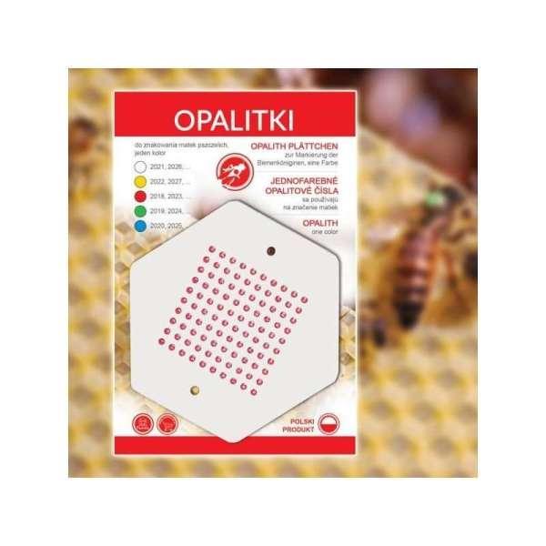 Sticker rosso con numeri per marcare la regina da 1 a 100