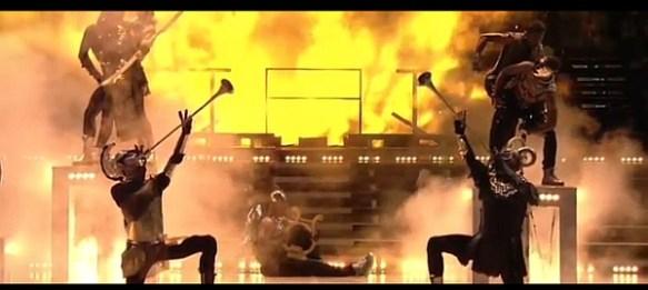 Madonna Superbowl Trumpets