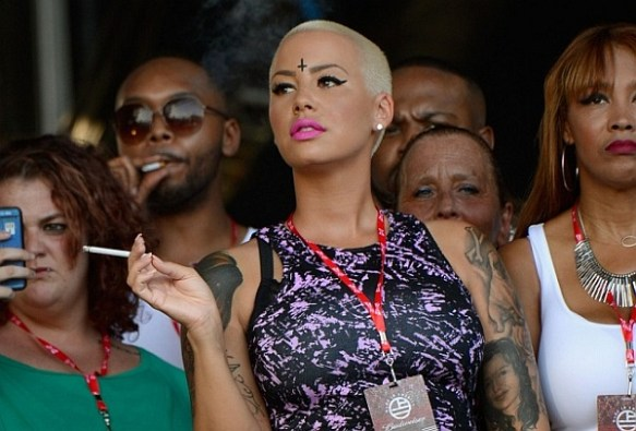 Amber Rose Satanic Tattoo