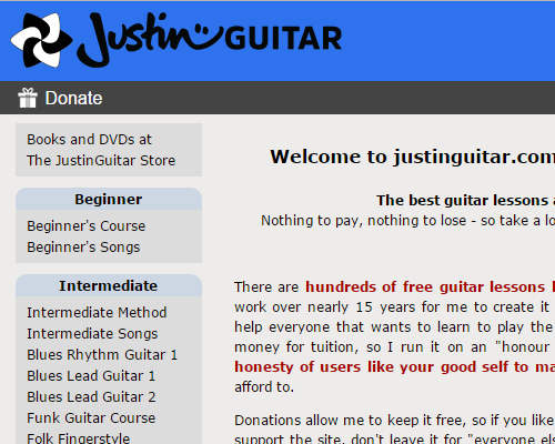 Top 7 Websites For Free Online Guitar Lessons - Constantine Guitars