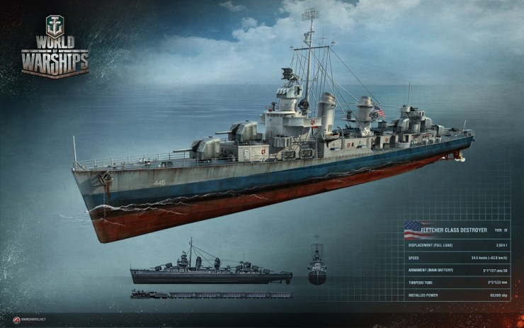 how to play us destroyer line