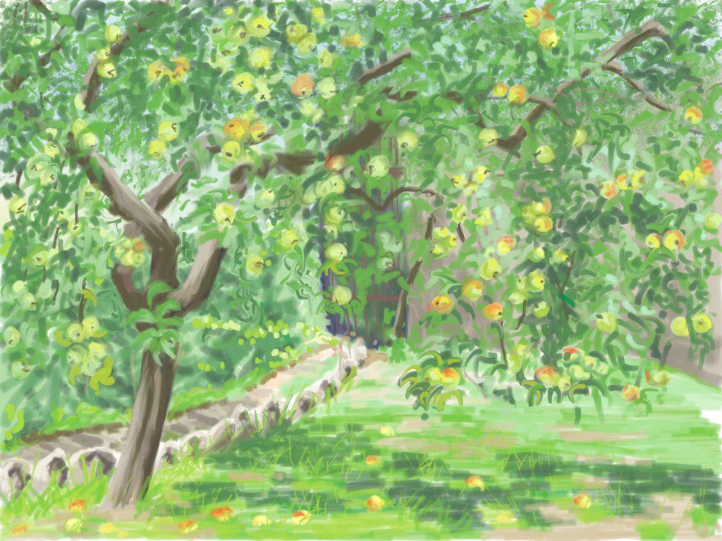 Apfelbaum im Paradis, Digital, 2016