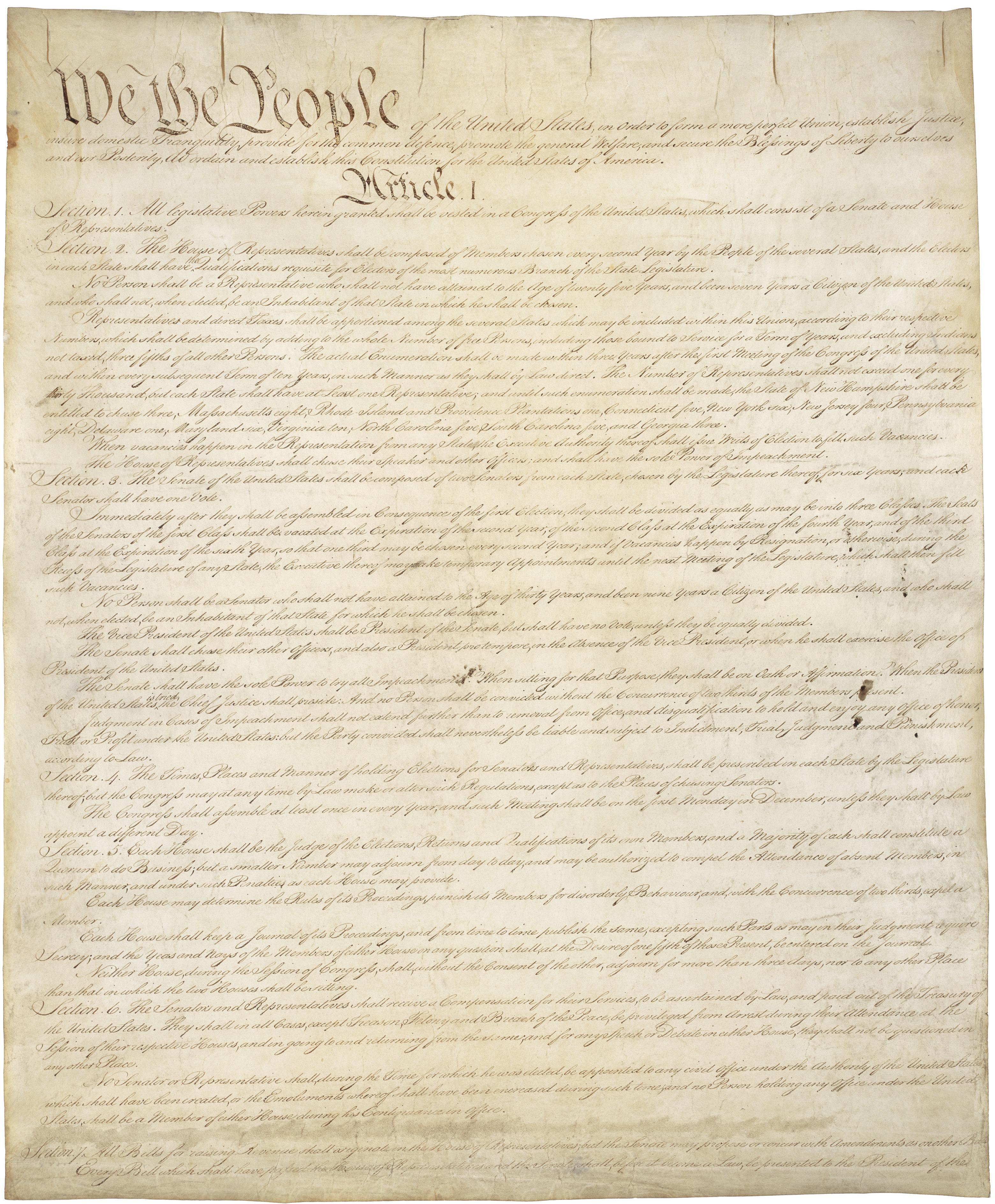 U S Constitution Full Text