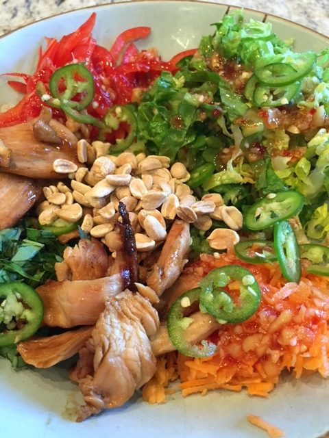 Deconstructed Vietnamese chicken salad