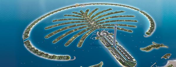 Islas artificiales en Dubai