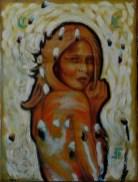 Dama en blanco 2017. Óleo sobre tela. 80 x 50 cm
