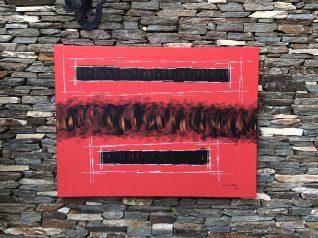 Box Rojo #3 100x70 Acrilico Tela