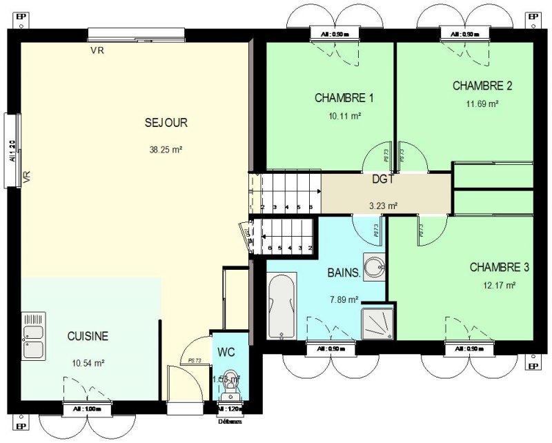 CONSTRUCTION 86FR Gt Plan Maison Demi Sous Sol