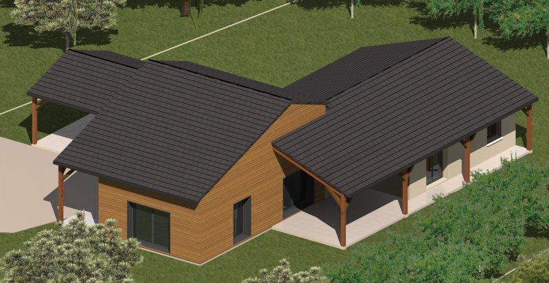 CONSTRUCTION 86FR Gt Plan Maison Mixte Bois Maonnerie