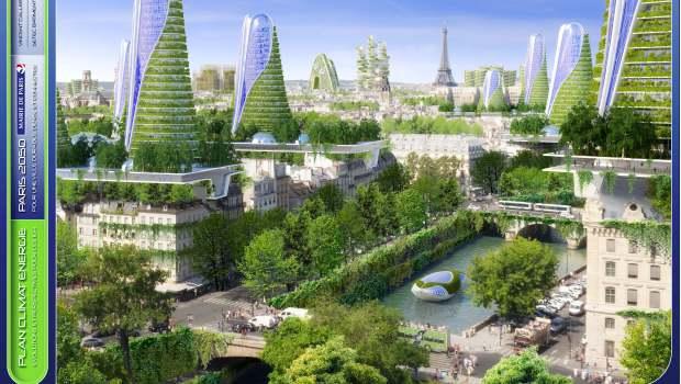 Paris Voit La Ville En Vert Pour 2050 Construction Cayola