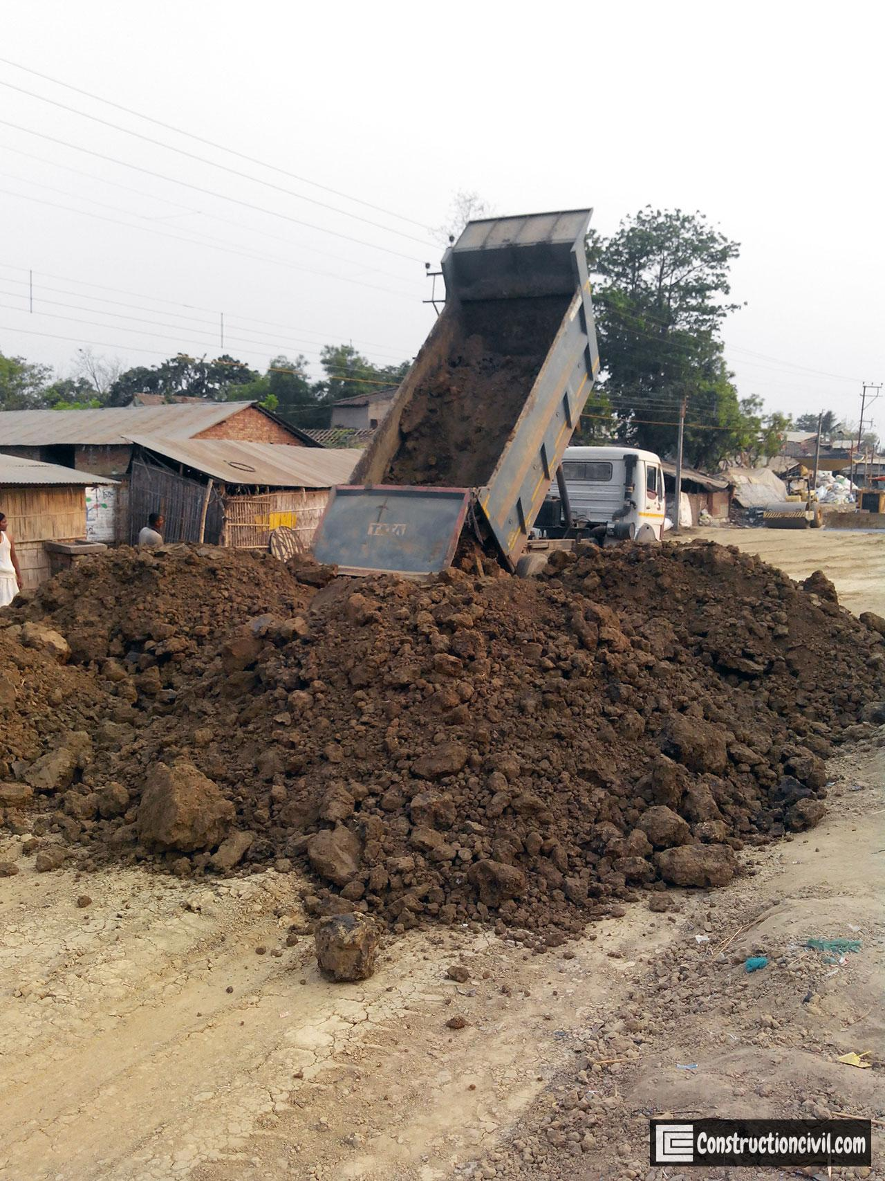 Soil Dumping for Road Construction
