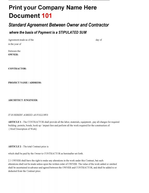 Construction Contracts And Forms ::: Construction Office Online