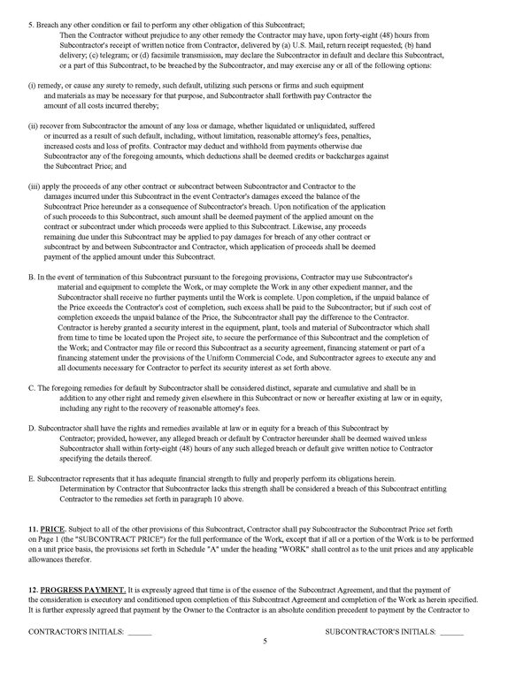 ... Standard Form Of Agreement Between Contractor And Subcontractor U2013  Subcontractor Contract Template ...