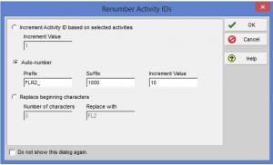 Renumber Activity IDs