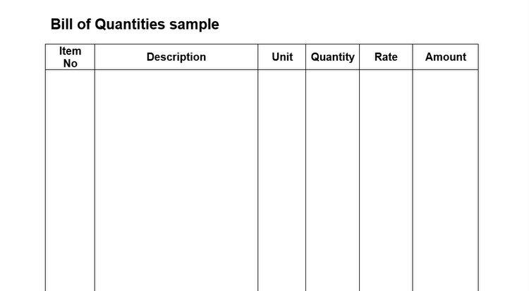 Bill of Quantities Advantages and Disadvantages - BOQ