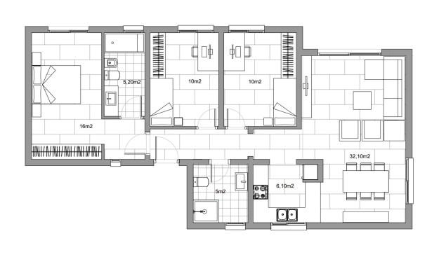 Casa modular unifamiliar.
