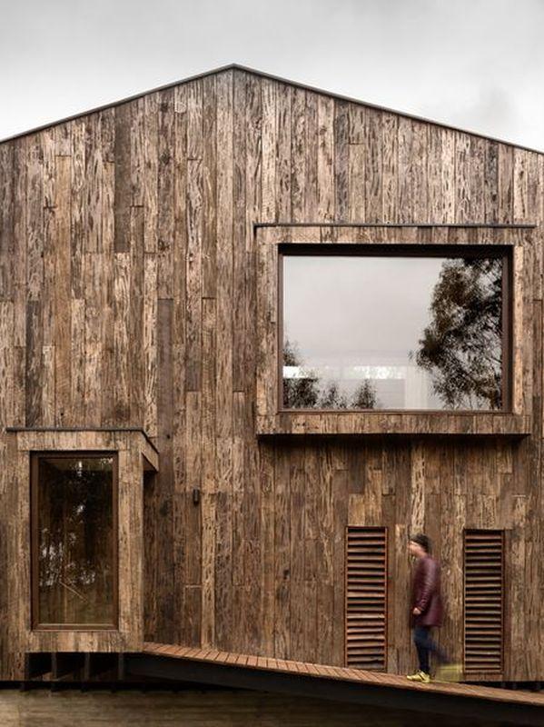 Maison Chilienne Faon Cabanon Et Son Bardage En Bois