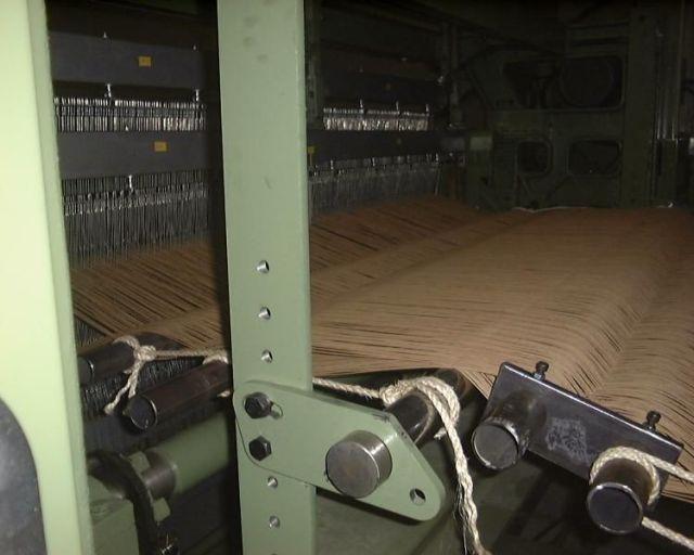 lloyd loom paper weaving machine close up