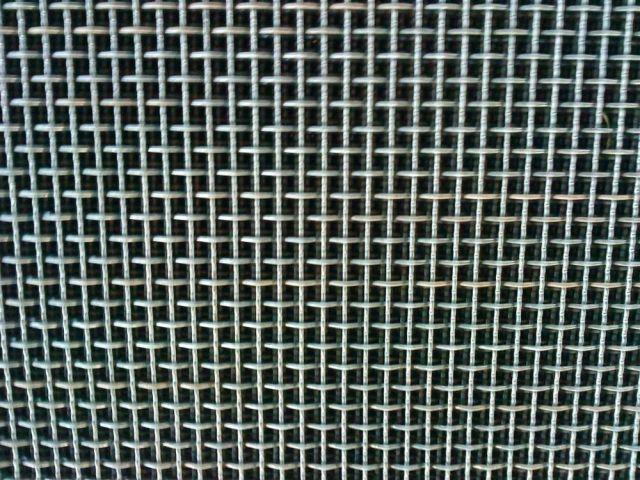 wire mesh woven on weaving machine