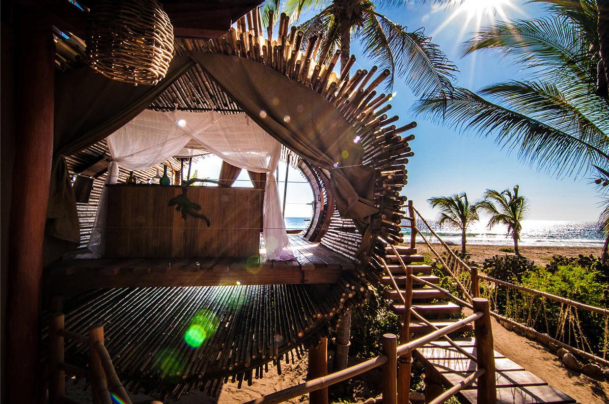 Diseo De Cabaa De Playa De Bamb Y Madera Construye Hogar