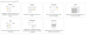 Tipologia di Campagne Google Ads